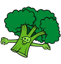 Green Cartoon Broccoli vector image