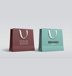 green paper bag and brown paper bag collections vector image