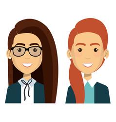 Group of businesswoman teamwork vector