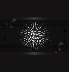 hand drawn lettering happy new year background vector image
