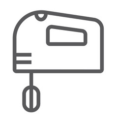 hand mixer line icon electric and kitchen vector image