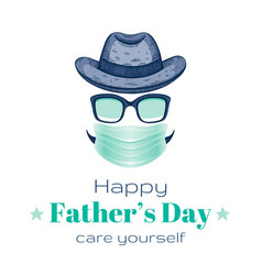 Happy father s day card with vintage dad face in vector