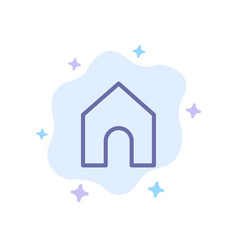 Home instagram interface blue icon on abstract vector