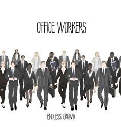 Huge crowd office workers vector