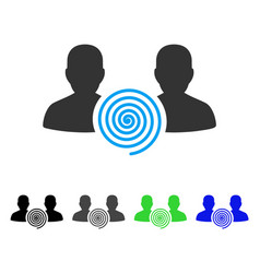hypnosis sect flat icon vector image