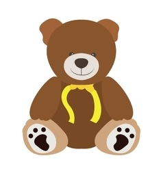 Isolated teddy bear vector image
