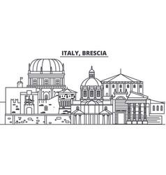 Italy brescia line skyline vector