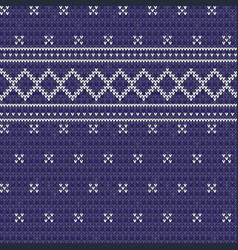 knitted blue seamless pattern background vector image
