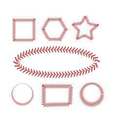 Lace from a baseball on a white background vector