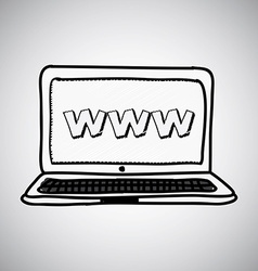 laptop design vector image