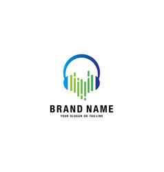 Logo design headphones vector