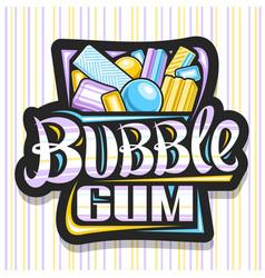 Logo for bubble gum vector