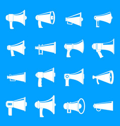 megaphone loud speaker icons set simple style vector image