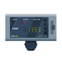 Modern taximeter device electronic measurement vector
