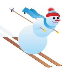 Mountain skier vector