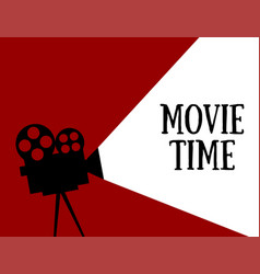 movie time flat style vector image
