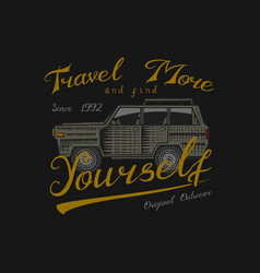 muscle car for t-shirt vintage transport classic vector image