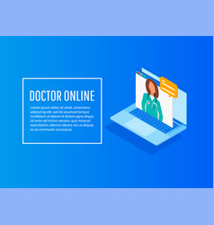 online medical consultation and support vector image