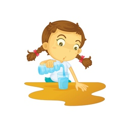 Pouring water vector