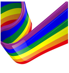 rainbow lgbt flag vector image