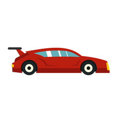 Red car icon flat style vector
