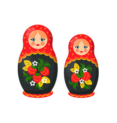 Russian doll toys from santa vector