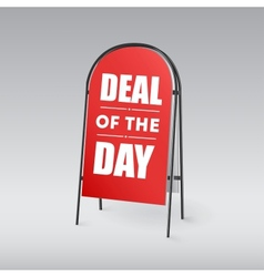 Sandwich board with an inscription Deal of the day vector