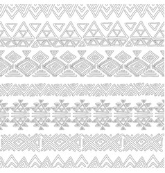 seamless abstract geometric pattern color book vector image vector image