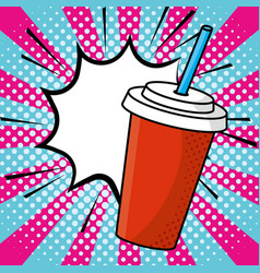 Soda paper cup vector