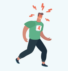 sportsman runner character vector image