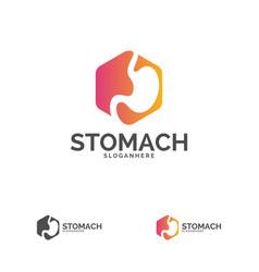 stomach logo template design stomach care logo vector image