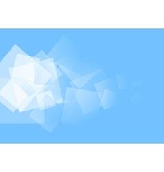 White squares on blue design vector image