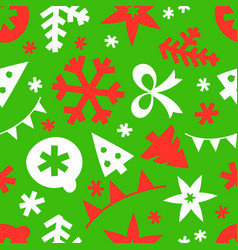 winter season holidays seamless pattern background vector image