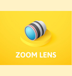 zoom lens isometric icon isolated on color vector image