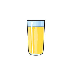 cartoon glass cup of lemon fruit juice vector image vector image