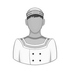 Sailor icon black monochrome style vector image