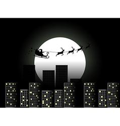 Santa Claus in a sleigh in a reindeer sleigh vector image vector image