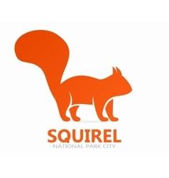 squirrel logo or icon vector image vector image