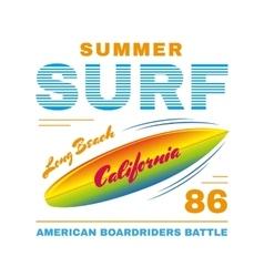 SurfIing poster vector image