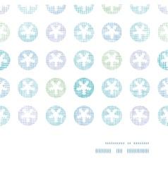 Abstract Textile Snowflakes Dots Horizontal Frame vector image
