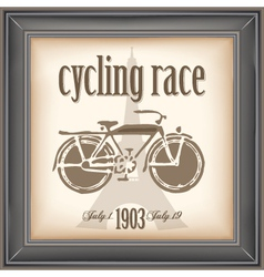 cycling race vector image vector image
