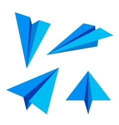 Paper plane vector image vector image
