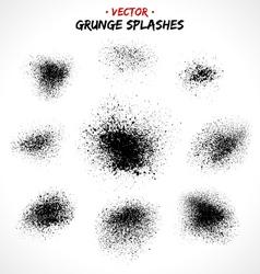 Set of grunge splashes vector