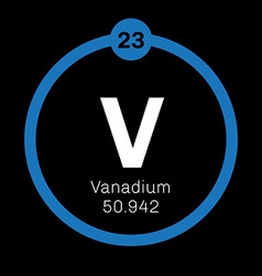Vanadium chemical element vector image