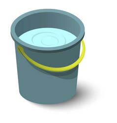 water bucket icon isometric style vector image