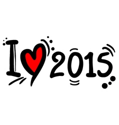 2015 love vector image vector image