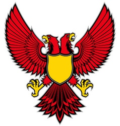 double head bird mascot spread the wing vector image vector image