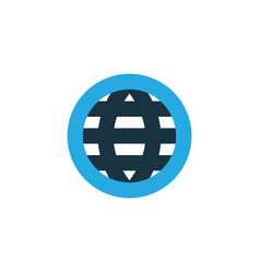 globe colorful icon symbol premium quality vector image