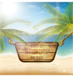 Happy summer holiday card vector image