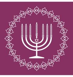 Jewish menorah holiday background vector image vector image